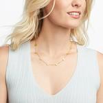 Julie Vos Valencia Delicate Station Necklace Gold
