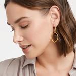 Julie Vos Fleur-de-Lis 2 in 1 Earring Gold