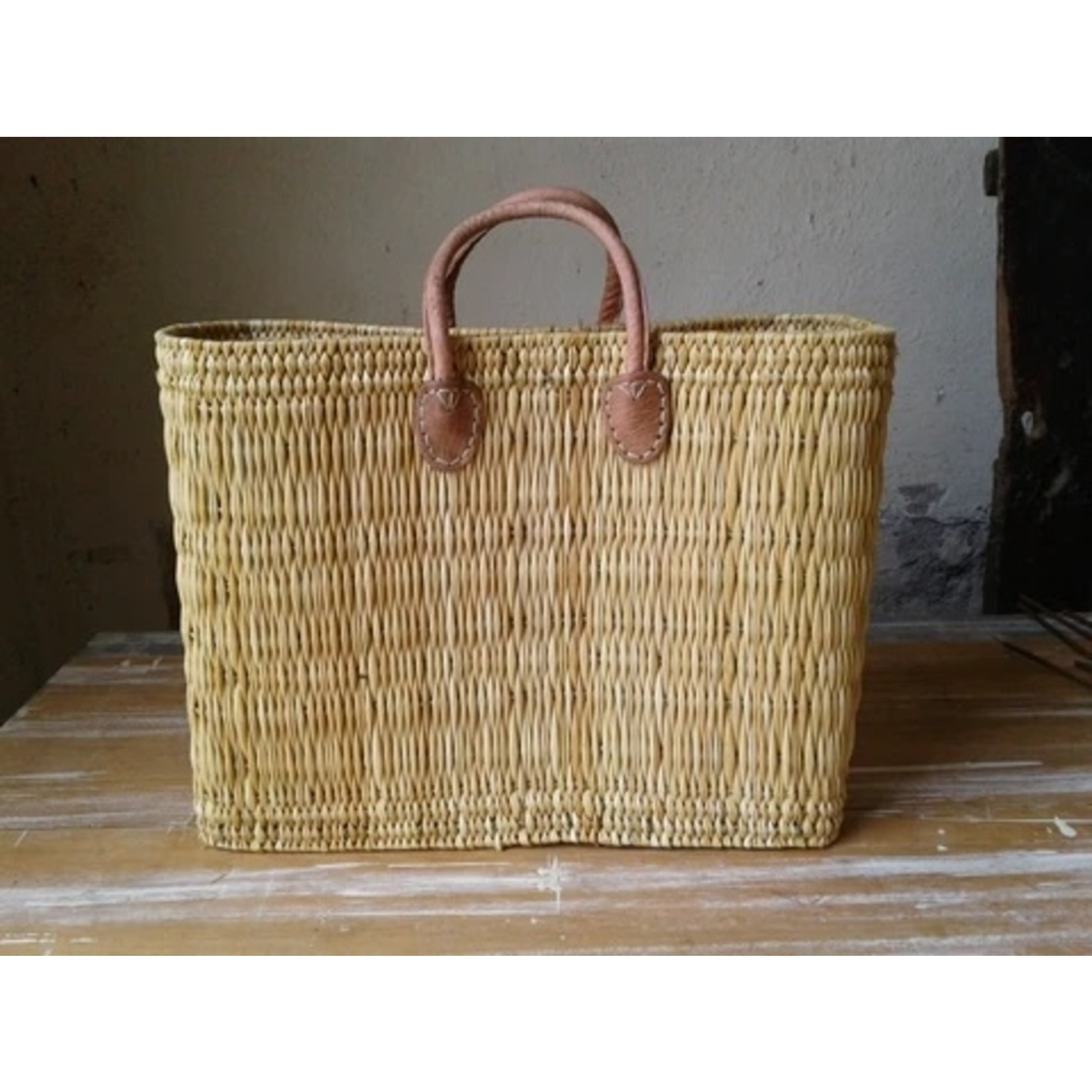 Extra Large Flat Weave French Market Tote