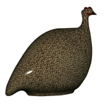 Grey Speckled Bordeaux French Guinea Hen