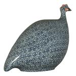 Blue Speckled Cobalt Blue French Guinea Hen
