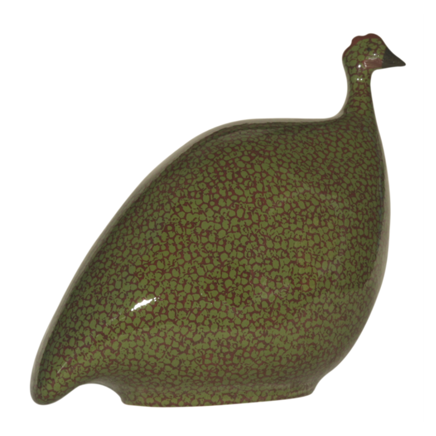 Green Speckled Bordeaux French Guinea Hen