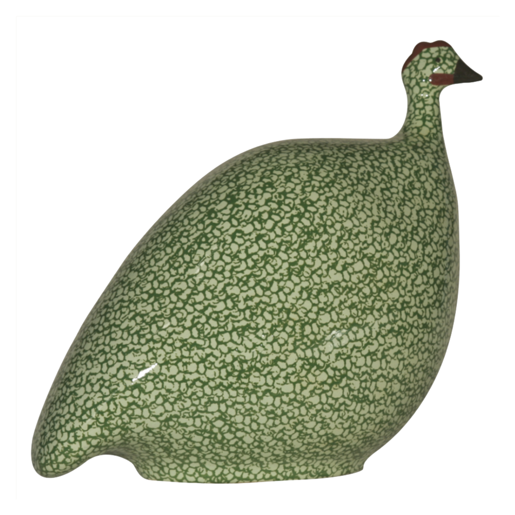 Light Green Speckled Leaf Green French Guinea Hen