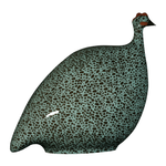 Black Speckled Turquoise French Guinea Hen