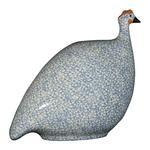White Speckled Light Blue French Guinea Hen