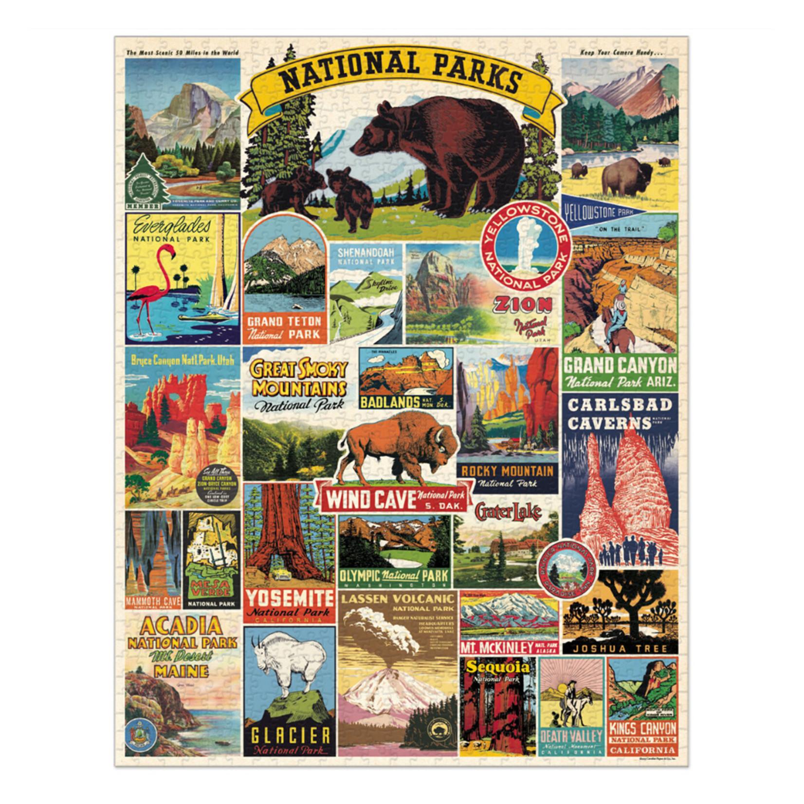 Cavallini & Co. 1000 Pc. Puzzle — National Parks