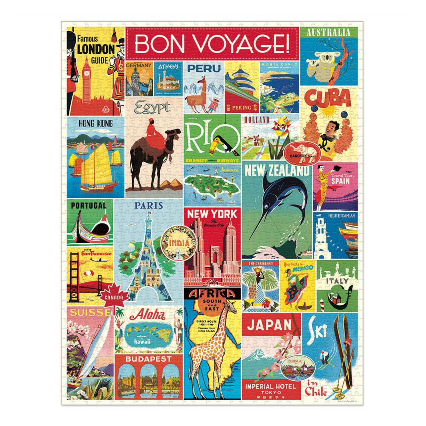 Cavallini & Co. 1000 Pc. Puzzle — Bon Voyage