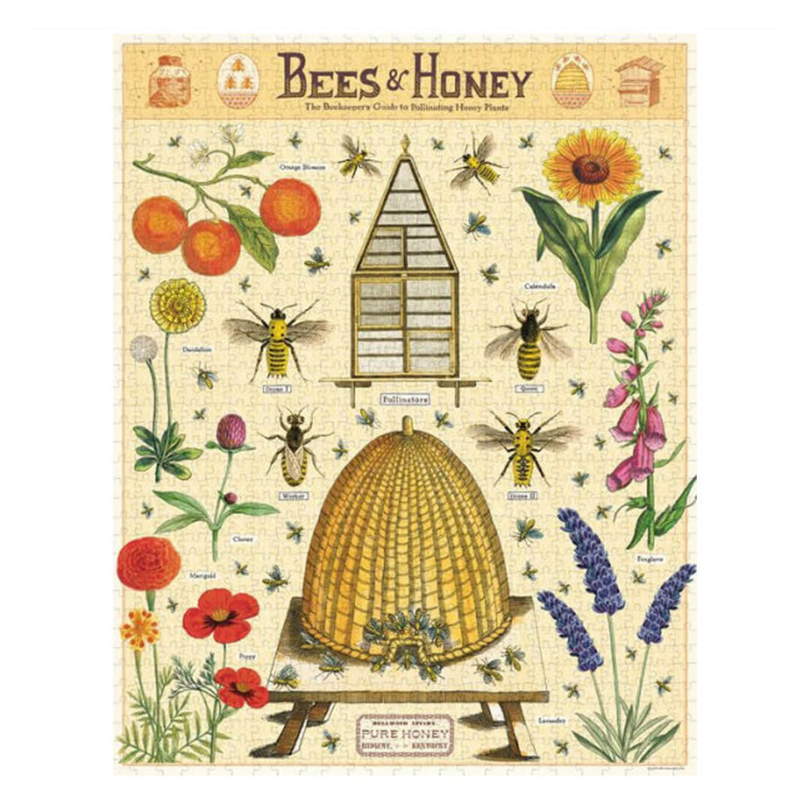 Cavallini & Co. 1000 Pc. Puzzle — Bees & Honey