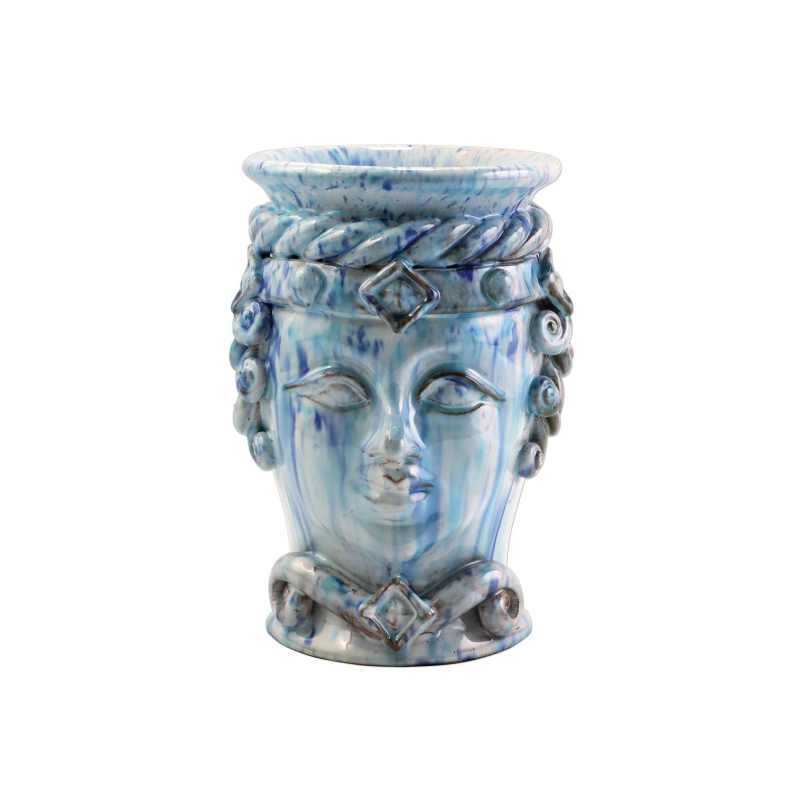 Vietri Blue Sicilian Head