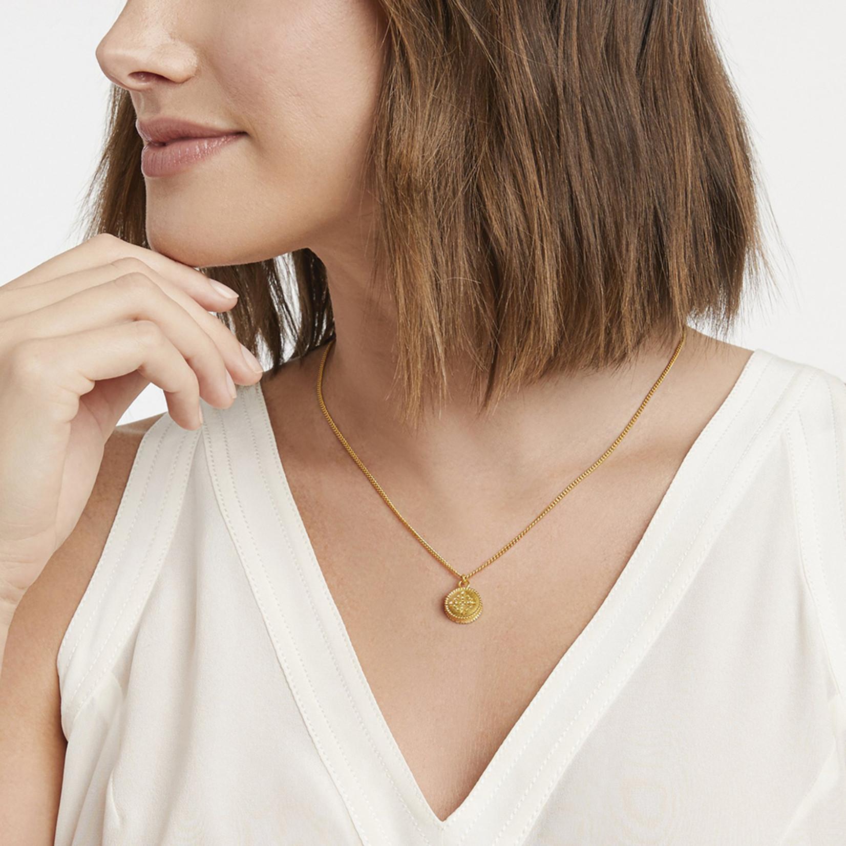 Julie Vos Fleur-de-Lis Solitaire Necklace