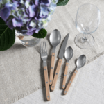 Sabre Bistrot Vintage Teak — 5 pc Place Setting