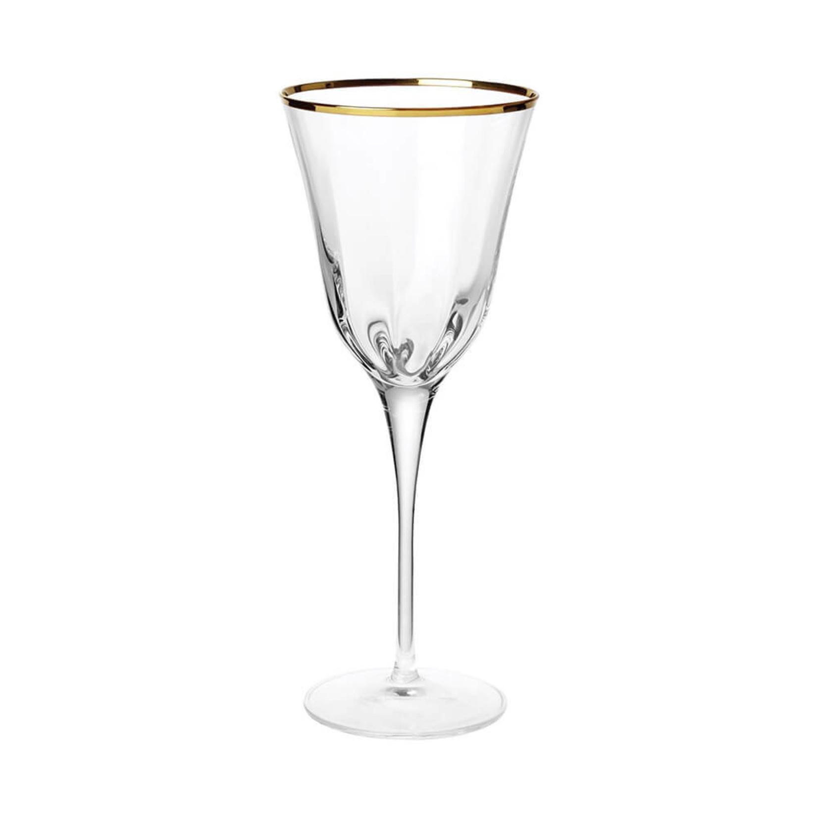 Optical Gold Wine Glass