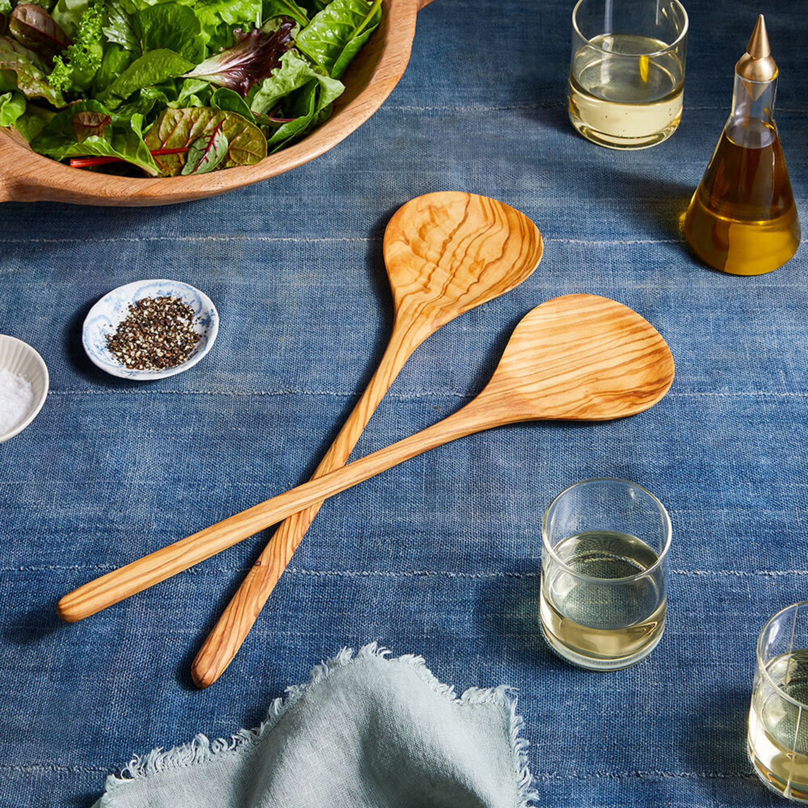 Olivewood Salad Set