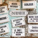 Bonnecaze Absinthe & Home Small French Enamel Plaques