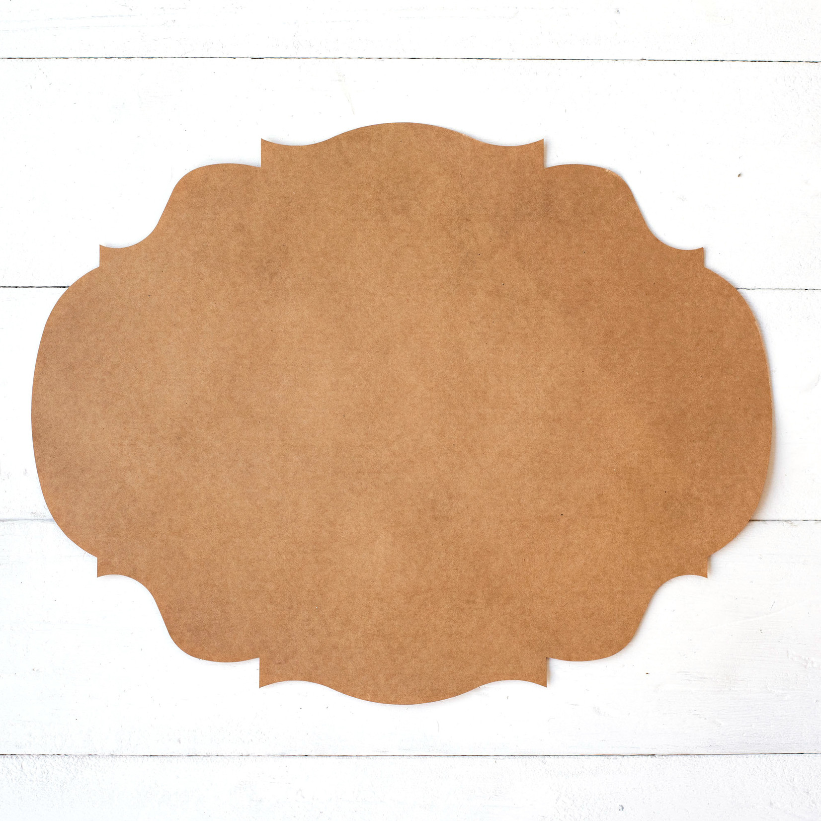 Die Cut Kraft French Frame Placemat - 12 Sheets