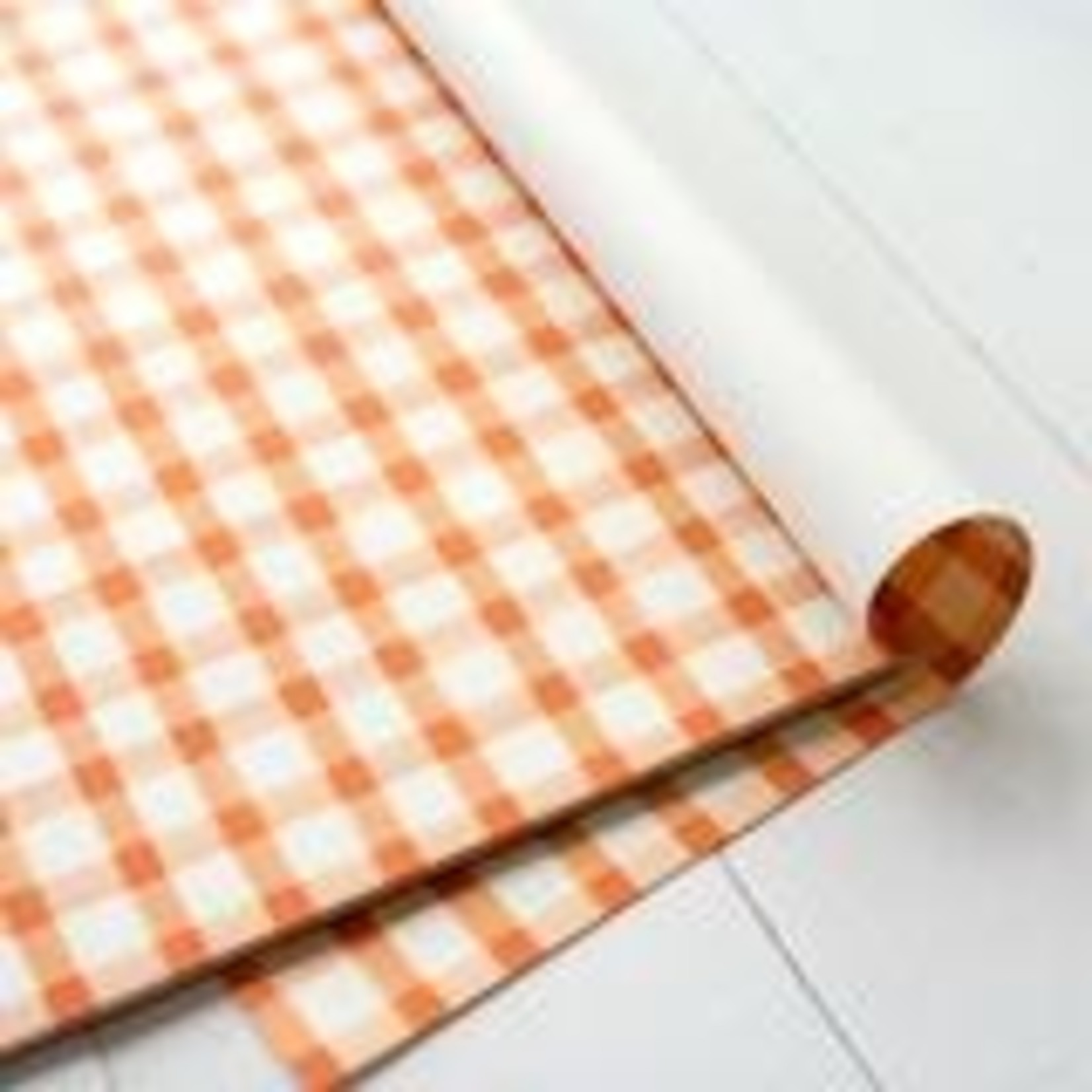 Orange Painted Check Placemat - 24 Sheets