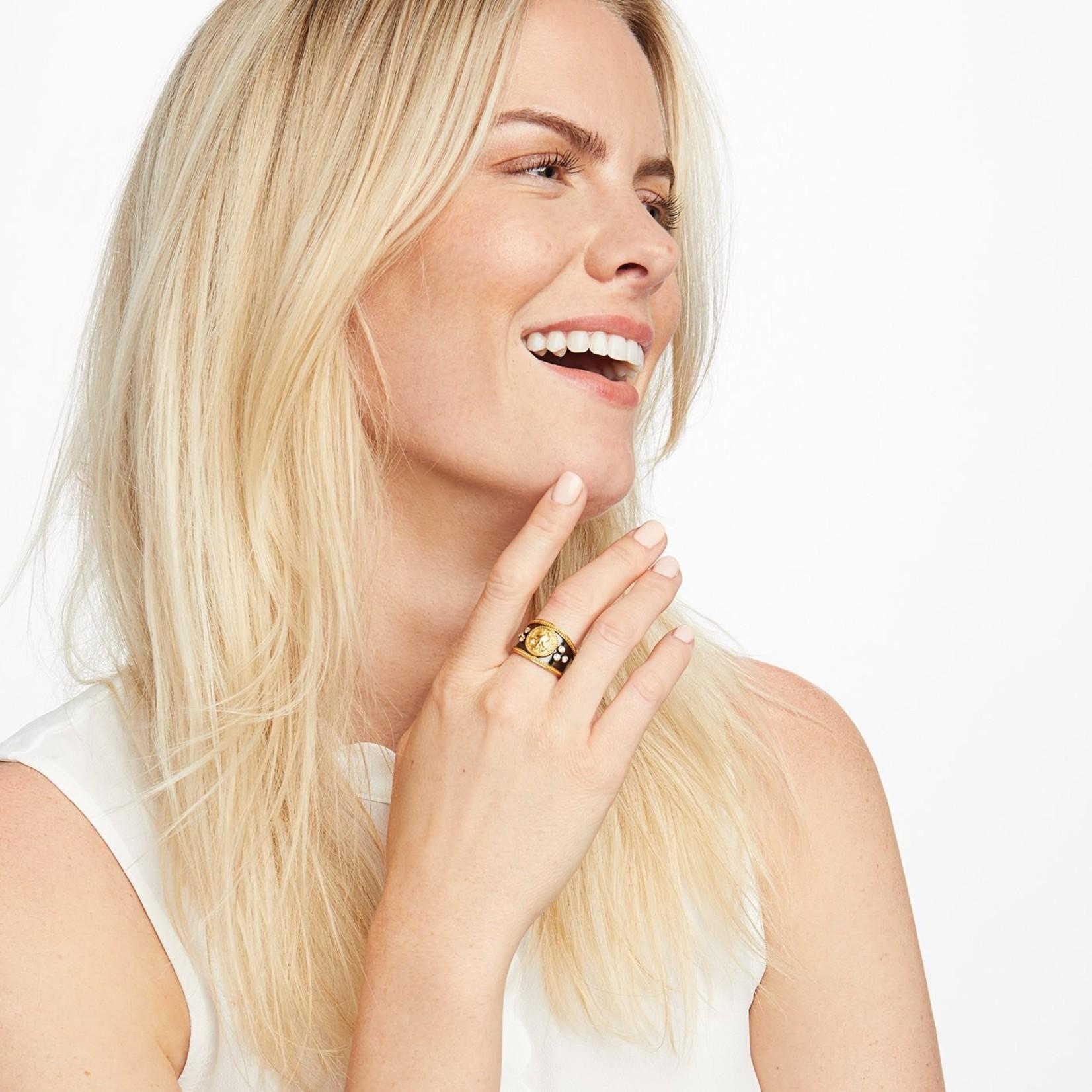 Julie Vos Coin Crest Ring