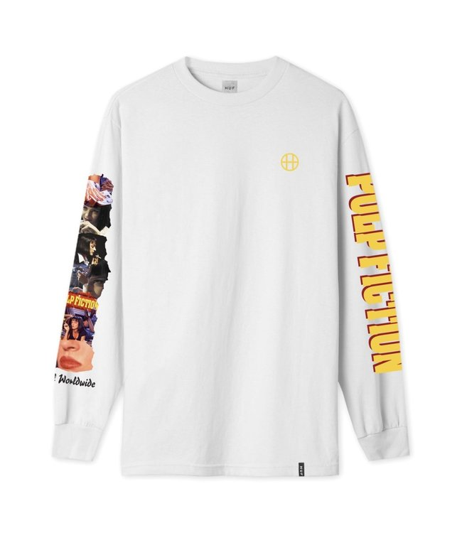 HUF PUP FICTION COLLAGE LONGSLEEVE TEE