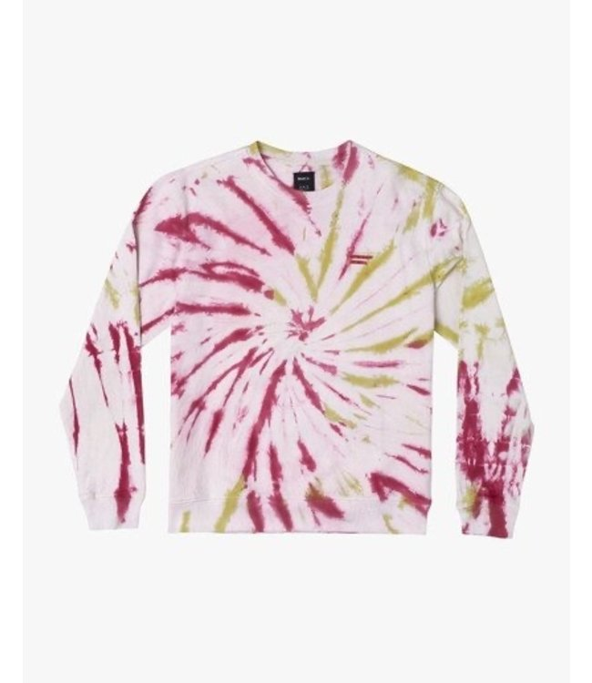RVCA SWITCH TIE DYE CREW NECK SWEATSHIRT
