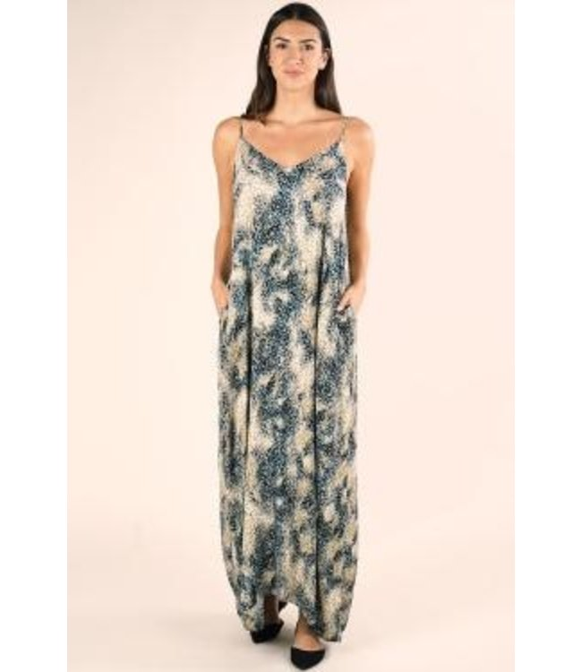 lovestitch PRINTED V-NECK MAXI