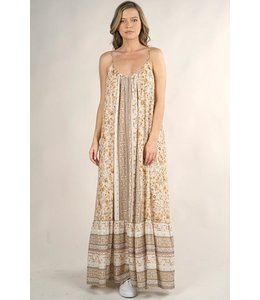 lovestitch MIXED PRINT MAXI