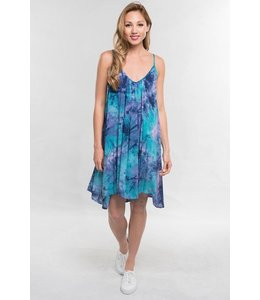 lovestitch TIE DYE TRAPEZE DRESS