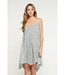 lovestitch PAISLEY TRAPEZE DRESS
