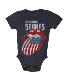 Rowdy Sprout ROLLING STONES FLAG ONESIE