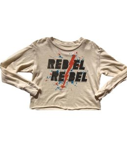 Rowdy Sprout REBEL REBEL L/S CROP TEE