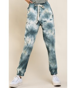 POL CLOTHING SHANA TIE DYE FLEECE PANT