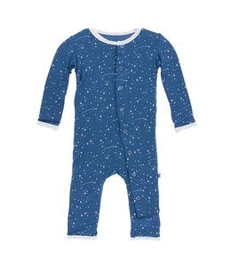 KICKEE PANTS PRINT COVERALL TWILIGHT STARRY SKY