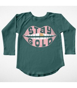 Tiny Whales STAY GOLD RAGLAN