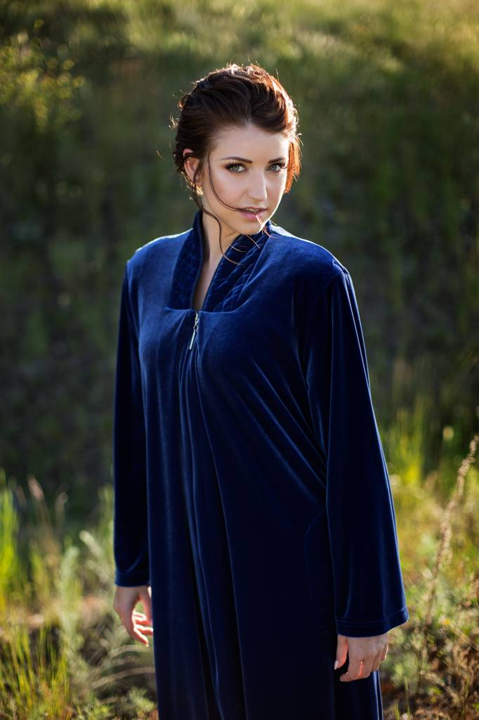 Diamond Tea Diamond Tea Velour Robe avec zip