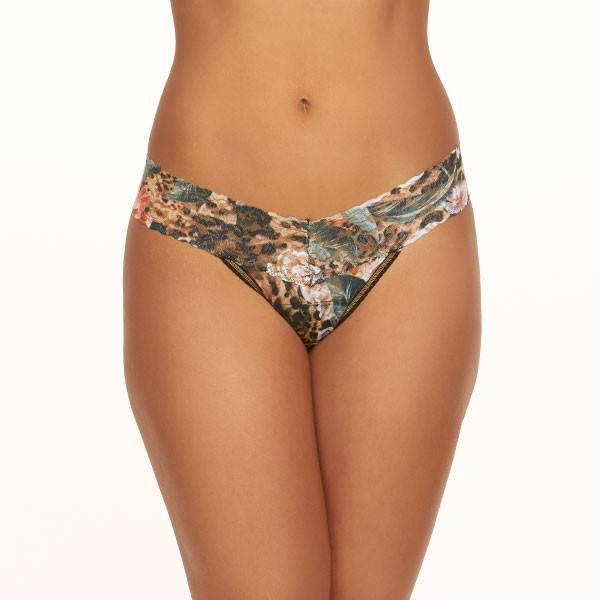 Hanky Panky Hanky Panky Low Rise Thong Safari Bloom