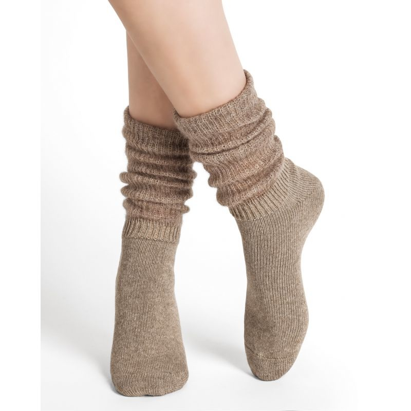Bleu Foret Bleu Fôret Alpaca cashemere slouch socks