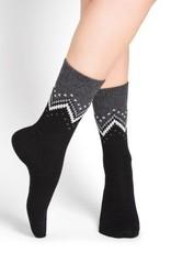 Bleu Foret Bleu Fôret Zigzag pattern wool and cashmere socks