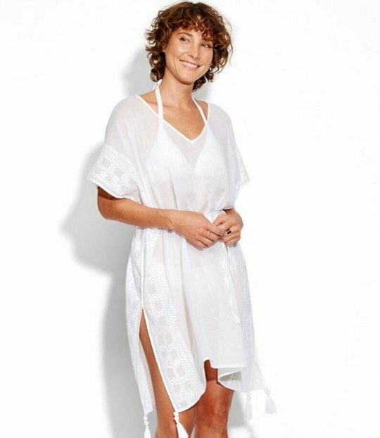 Seafolly Seafolly Cover Up Shadow Embroidered Kaftan