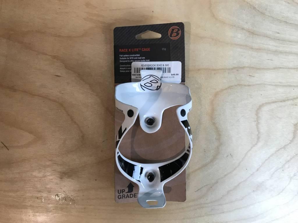 Bontrager Bontrager Race X Lite Carbon Bottle Cage White/Black - NOS