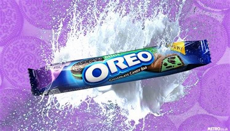Milka Oreo Chocolate Mint Candy Bar, 1.44oz