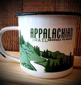 The LandMark Project The Landmark Project Appalachian Trail Enamel Mug