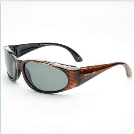 Ocean Eyes Ocean Eyes Go Fish Shiny Woodgrain Sunglasses