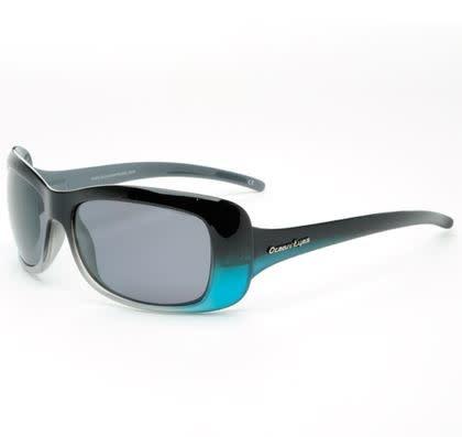 Ocean Eyes Ocean Eyes Waikiki Shiny Black w/Grey/Blue Smoke Amber Sunglasses