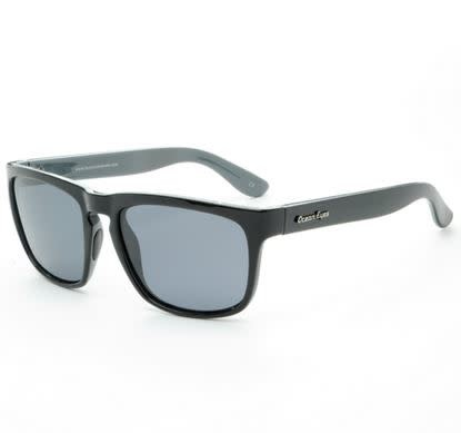 Ocean Eyes Ocean Eyes Shaka Black w/Turq Smoke Sunglasses