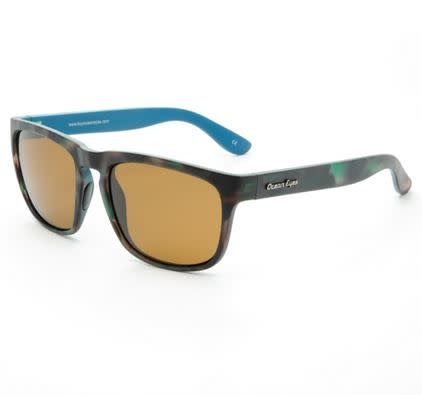 Ocean Eyes Ocean Eyes Shaka Green Camo Amber Sunglasses
