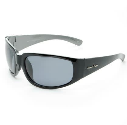 Ocean Eyes Ocean Eyes Malibu Shiny Black/Grey Smoke Sunglasses