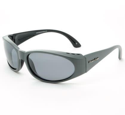 Ocean Eyes Ocean Eyes Go Fish Silver Mirror Matte Grey Smoke Sunglasses