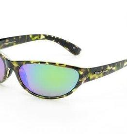 Ocean Eyes Ocean Eyes Angler Shiny Green Camo, Green Mirror Amber Sunglasses