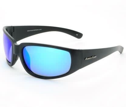 Ocean Eyes Ocean Eyes Malibu Matte Black, Blue Mirror Smoke Sunglasses