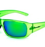 Ocean Eyes Ocean Eyes Hollywood Crystal Green, Green Mirror Amber Sunglasses