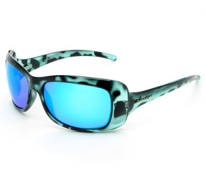 Ocean Eyes Ocean Eyes Waikiki Blue Marble, Blue Mirror Smoke Sunglasses